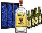 Gin Tonic Geschenkset - Finsbury London Dry Gin 70cl (37,5% Vol) + 4x Fentimans Tonic Water 200ml + Geschenkverpackung