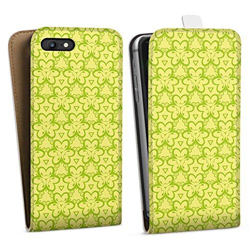 Apple iPhone X Silikon Hülle Case Schutzhülle Blumenmuster Dreiecke Gelb Downflip Tasche weiß
