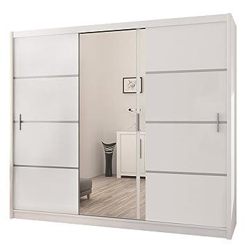Schlafzimmerschrank schiebetür spiegel  Kleiderschrank Vista, Schwebetürenschrank mit Spiegel, Schiebetür ...