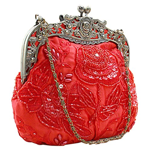 Belsen, Borsa A Tracolla Da Donna Rossa Rossa Taglia Unica Rossa