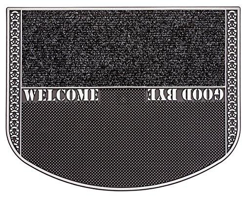 CarFashion Outdoor Fußmatte PUR|TwinClean mit Textileinlage und Scraper-Noppen, TPE-VC 100{303cbe945f07ed1791f6886ed5084f8d092fb2541dcc4b24124dc2a4f2be6dbd} Nachhaltig, Anthrazit-Metallic, 78 x 55 cm