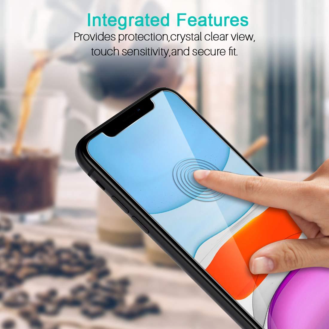 3 Pack Protector de Pantalla para iPhone XR 6.1, Cristal Vidrio Templado Templada LK Compatible con Funda Touch 3D Garant/ía Vitalicia De Sustituci/ón F/ácil de Instalar Screen Protector