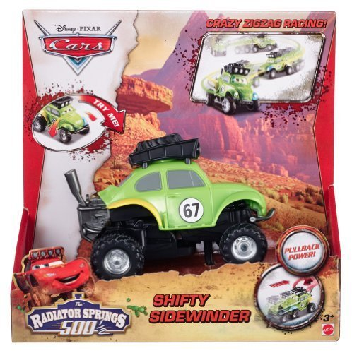 Disney/Pixar Cars Radiator Springs 500 1/2 Wild Racer Shifty Sidewinder Pullback Vehicle by Mattel