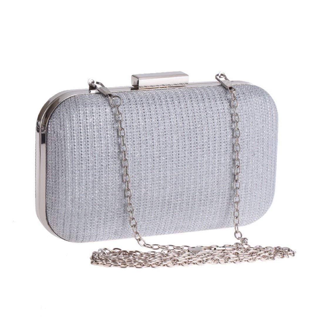 3e268c25c1f4 Goooodrry Women's Evening Party Clutch Bag Handbag Chain Small Box Bag  Square Hard Shell Handbag Shoulder Evening Bag (Color : Black)