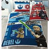 LEGO Star Wars Bataille Housse de couette simple et taie d'oreiller