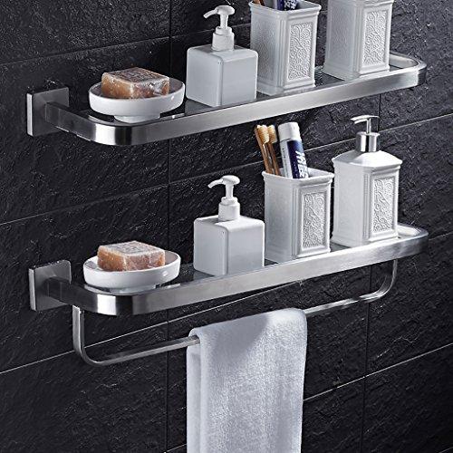 Bathroom Rack YSJ Salle de Bains Verre rectangulaire étagère Murale Verre trempé Extra épais, Section Lumineuse