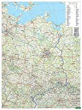 Freytag Berndt Wandkarten, Deutschland Ost, Poster, Plano in Rolle - Maßstab 1:500.000 (freytag & berndt Poster + Markiertafeln)