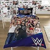 Offizielles Wende Bettbezug WWE Einzelbett/Quilt Cover Set Wrestling Stars Legends, Single - WWE Wrestling 2K17, Einzelbett
