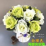 Unechte Blumen Floral Silk Flower Bouquet Set Simulation Plastikblumen, Schmuck Schmuck Home Ausstattung Blume Flower Pot, Fe