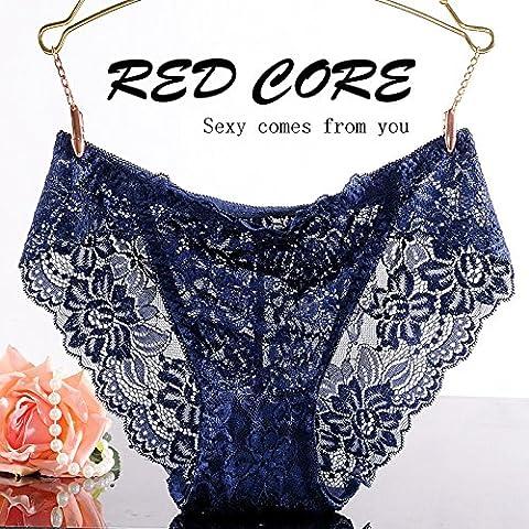 RangYR* biancheria intima sexy lace non-marking 3 low-rise corner Pantaloni donna tentazione di temperamento e intimo ,L, Royal Blue