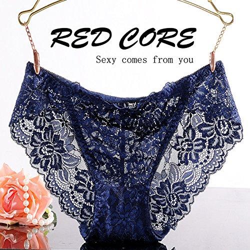RRRRZ * biancheria intima sexy lace non-marking 3 low-rise corner Pantaloni donna tentazione di temperamento e intimo ,XL, Royal Blue