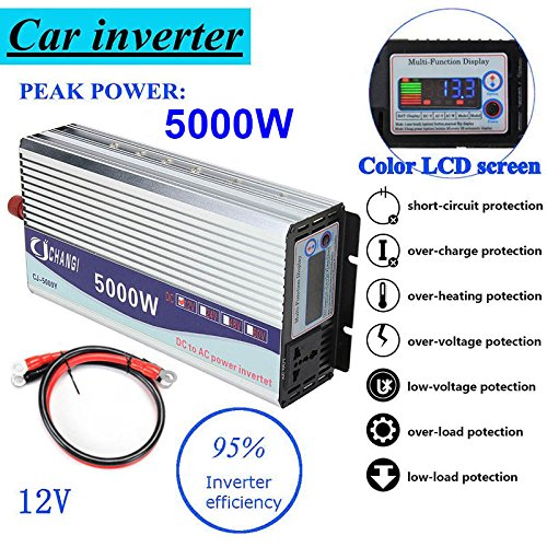 ZREAL Konverter von Leistung Modified Sinus Wechselrichter 5000W Konverter-DC12-48V A AC220V + LCD