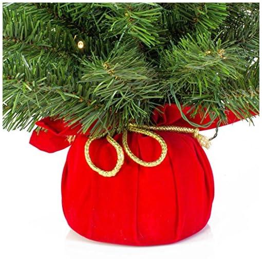 Albero Di Natale 50 Cm.Mini Albero Di Natale Artificiale Varsavia Con Led Rosso 90 Cm O