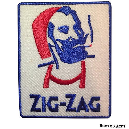 Riss Kostüm Shirt - Zick Zack Man, Besticktes Patch mit Logo zum Aufbügeln oder Aufnähen für originelle Kleider, Kostüme, T-Shirts, Taschen, Jacken.