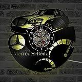 Best Conception avec Vinyl cadeaux pour les familles - ELLANM Vinyl Evolution Car BANZ Design Meilleure Horloge Review