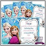 Eternal Design 5x BabySmiles inviti per festa di compleanno. Elsa & Anna Frozen 1