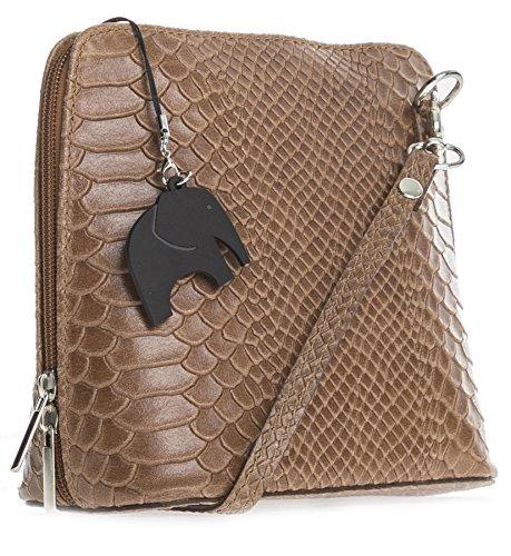 Big Handbag Shop , Sac bandoulière pour femme taille unique Snake - Dark Tan