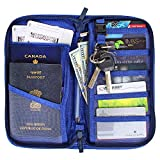 EVIZO Passport Holder, Travel Wallet Case Cover Water-Resistant Organizer Bag to Carry Multiple