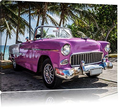 Pixxprint Kuba Varadero Oldtimer 120x80cm Leinwandbild Wandbild Kunstdruck