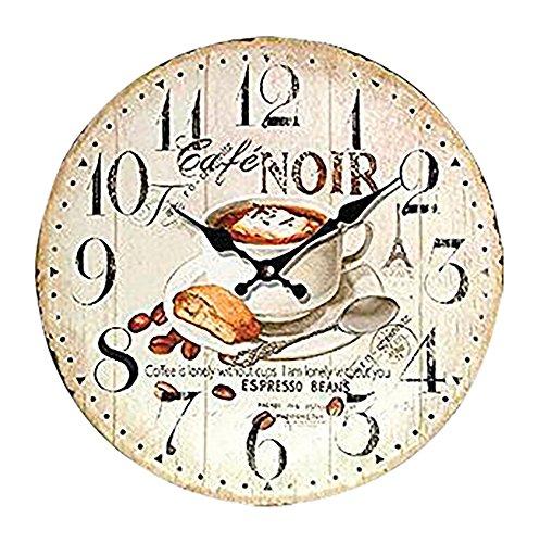 RELOJ DE PARED DISENO CAFE NOIR ESPRESSO DECORACION 30CM MODERNO - Tinas Collection