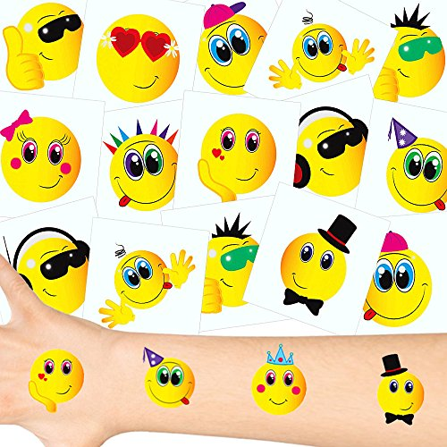 - Smiley Tattoos Set ┃ NEU ┃ Smiley Party ┃ Kindergeburtstag ┃ Mitgebsel ┃36 Tattoos (Disney Halloween-filme-kinder)