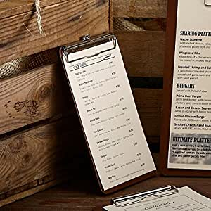 Bill Presenter Porte-bloc en bois rustique en bois Restaurant Bill Presenter pour les tickets