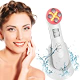 Ultraljud skönhet enhet ansikte massage röd ljusterapi hög frekvens ansiktsmassage 6 lägen ansiktsmassage hudvård 5 tum 1 ult