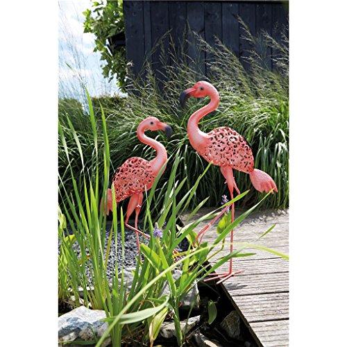Luxform Solar LED Metall Vogellicht Flamingo pink - Flamingo Pink Garten