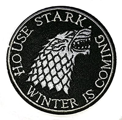 HOUSE STARK WINTER IS COMING Game Of Thrones Embroidered Robe Iron On Patch