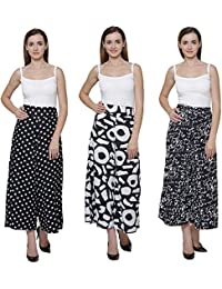Vogue Nation Combo Of 3 Black & White Polka Dots Printed, Black & White Geometric Pattern Print, And Scribbled...