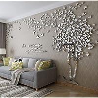 Loterong Der Spiegel Baum Liebhaber Creative 3D Acryl Crystal  Three Dimensional Wandaufklebern Wohnzimmer Tv Hintergrund