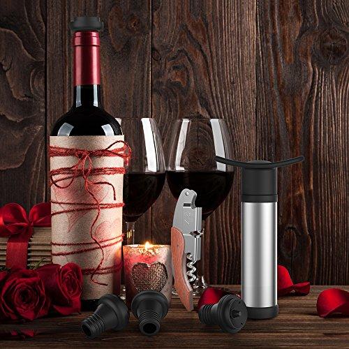 Oriware Korkenzieher Stopfen Vacuum Weinbelüfter Weinpumpe