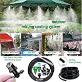 DIY Crafts DIY Misting System Outdoor Misting Cooling System Misting Line + Mist Nozzles + Metal Threaded Adapter for Patio Garden Greenhouse Umbrellas Trampoline (10 Pcs Mist Set, Multi)