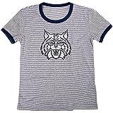 Blue 84 NCAA Arizona Wildcats Women's Tri-Blend Retro Stripe Ringer Shirt, X-Large, Navy