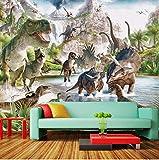 Yirenfeng Carta Da Parati Personalizzata Poster Carta Da Parati Rivestimento Murale Jurassic Dinosaur World 3D Carta Da Parati Murale Per Pareti Della Camera Da Letto Papel De Parede 3D140X70CM