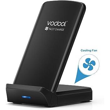 Vodool Wireless Charger mit Lüfter kompatibel zu Samsung/iPhone/Huawei/Nexus/HTC/LG usw. (01#)