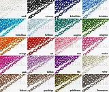 INWARIA Textil Gliederkette 90 cm 12x8 mm Ankerkette Kordelkette Meterware Kette, TK-5, malve