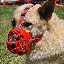 JYHYEU Bozal suave, de Gel de sílice, para perro, ajustable, evita que el perro muerda, ladre o mastique, para entrenamiento