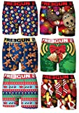 FREEGUN Boxer, Shorty Homme (Lot de 6) (S, Noel)