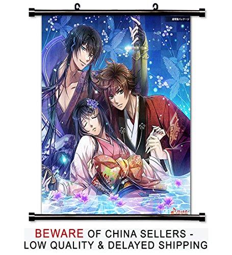 BestPlaceAnime Hana Oboro Sengoku den Ranki Anime Fabric Wall Scroll Poster (32x38) Inches