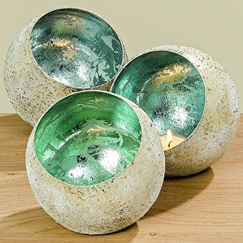 Home Collection Metall Windlicht 3er Set 12cm türkis