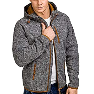 DOLDOA Mens Jacket Autumn Winter Casual Zipper Long Sleeve Fashion Pullover Sweatshirt Hoodie Coat Tops,M-2XL