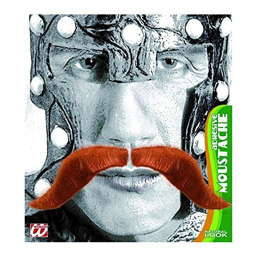 iking Tash Red Disguise Novelty Fake False Moustaches Beards Sideburns etc for Fancy Dress Accessory (Moustache Fancy Dress)