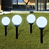 Außenlampe Solarlampe LED Gartenkugel Kugellampe 4tlg.