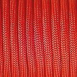 efco Paracord Seil, Polyester Blend, rot, 2mm x 4m