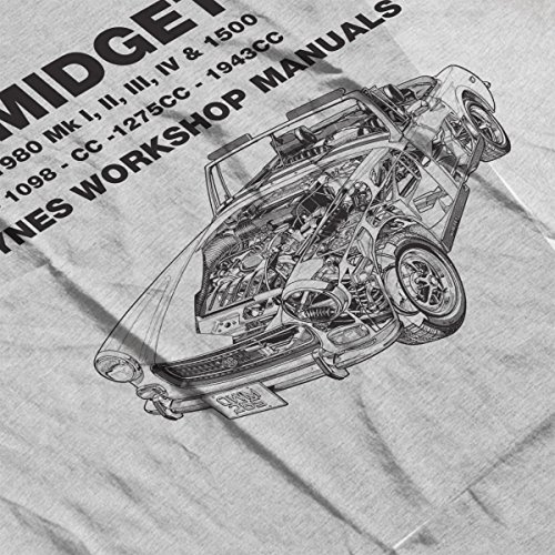Haynes Owners Workshop Manual 0265 MG Midget 948 to 1275cc Black Women's Sweatshirt Heather Grey