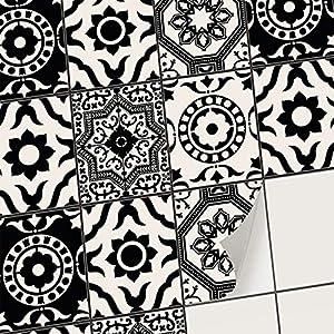 creatisto Fliesenfolie Fliesenaufkleber Mosaikfliesen - Hochwertige Sticker Aufkleber für Wandfliesen I Stickerfliesen - Mosaikfliesen für Küche, Bad, WC Bordüre (20x25 cm I 6 -Teilig)