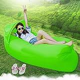 Design original 0.9kg Portable rapide gonflable Canapé/Lit/bateau pour extérieur randonnée Camping Lounge Plage et Garden Leisure Sacs de couchage Camping Lit avec parasol - Green