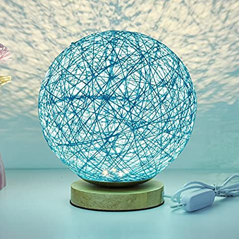 KNONEW For Rattan Ball Style Energy Saving Night Light Lampshade Home Dining Decoration Lamps Bedside Lamp LED For Bedroom Gift.