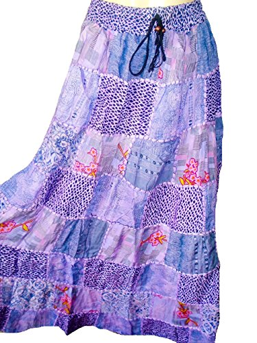 Tribal Belly Gypsy Maxi gonna Hippy Ballando Gonne Banjara NUOVO PATCHWORK P44